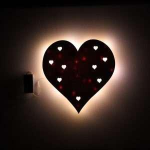 Nachtlicht Herz