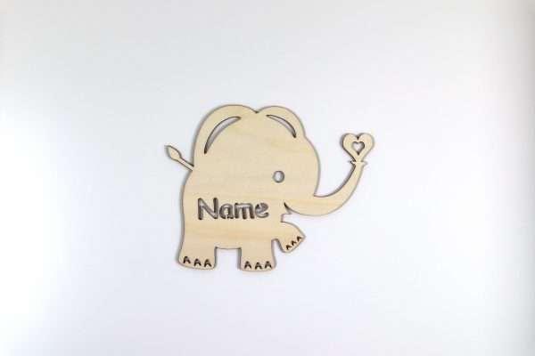 Türschild Elefant