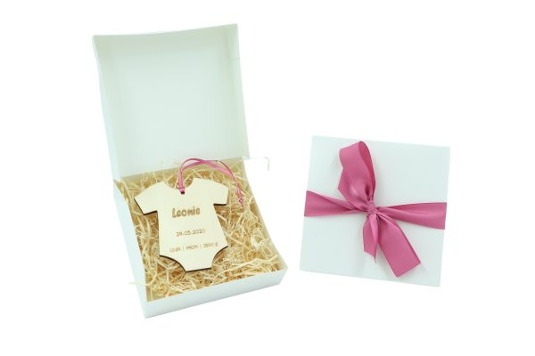 Little Boxes zur Geburt Strampler in Geschenkverpackung