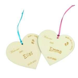 Little Boxes zur Geburt Herz in Geschenkverpackung